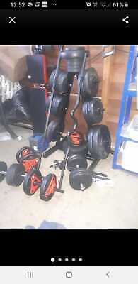 gym equipment bench weights stand dumbells