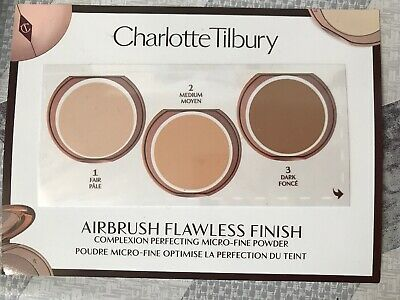 CHARLOTTE TILBURY airbrush flawless finish powder sample card complexion perfect