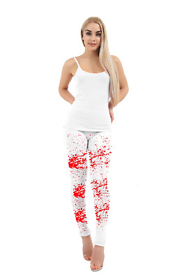 CHILD BLOOD STAINED TIGHTS HALLOWEEN ZOMBIE HORROR GIRLS FANCY DRESS BLOODY