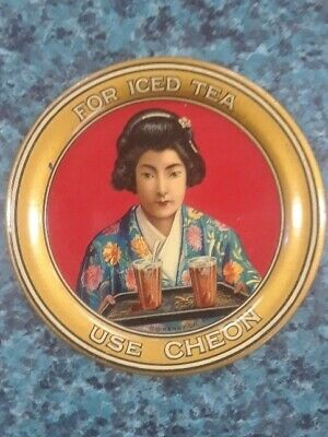 Vtg Cheon Tea Advertising Tip Tray Nr Mint C.d. Kenny Iced Tea Great Graphics