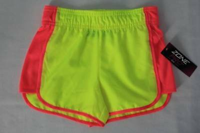 NEW Girls Shorts Size XS 4 - 5 Bright Yellow Gym Running Athletic Summer Camp