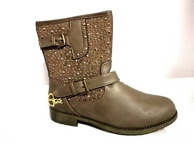 New Womens Girls Ladies Fashion Flat Low Heel Ankle Boots Pull On Zip Size 4,5