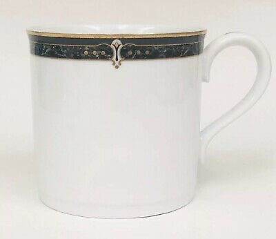 Wedgwood Embassy Collection Whitfield White  Black Gold Marble HTF Coffee Mug