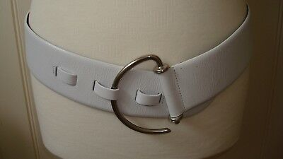 STEPHEN COLLINS LADIES DESIGNER BELT PU LEATHER TAUPE SMALL NEW RRP £25