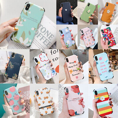 Cute Pattern Shockproof Rubber Soft Cover Case For iPhone 11 Pro MAX XS XR X 8 7