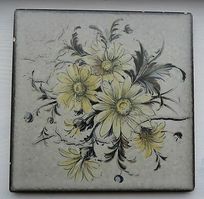 Large Floral Trivet Or Wall Deco Tile Made By Wessel Germany