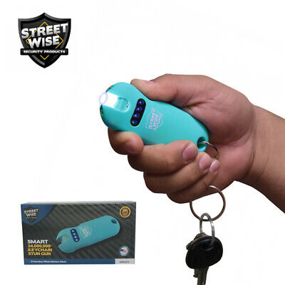 Streetwise SMART Keychain Stun Gun 24,000,000 w/ Battery Status Lights - Teal