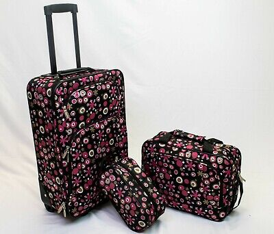 in2it 3pc travel luggage set 20in carry on + Tote + Travel kits bag