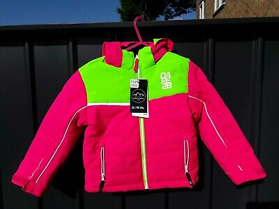 Dare 2Be Girls Coat New + Tags Luminous Pink / Green Age 5-6 (REDUCED AGAIN)