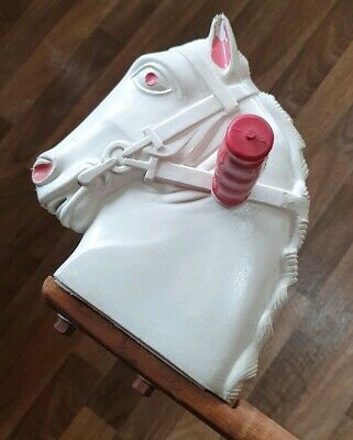 Rare vintage 1950's Triang(?) hobby horse/pony ride on wooden/plastic kids #2