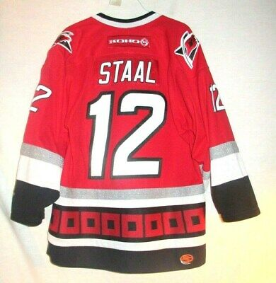 the best attitude e5178 f7b44 VINTAGE #12 ERIC Staal Carolina Hurricanes Red Home Jersey By Koho Man's  Small