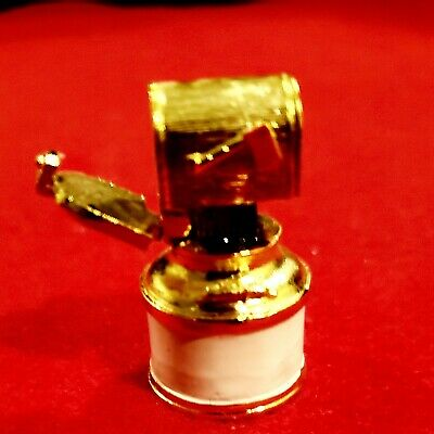 Heavy gold painted pewter mailbox thimble