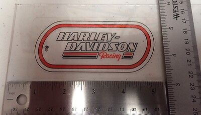 Harley-Davidson Racing Inside Window Decal.Vintage Harley Sticker.2.25x4.75.NOS