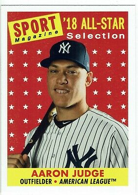 2019 Topps Archives High Numbers Aaron Judge 1958 Topps Sport Magazine Card