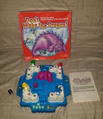 Vintage Don't Wake the Dragon Parker Brothers  Action Board Game 1986 Complete