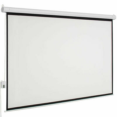 "100"" Electric Projector Projection Screen Motorized indoor 80''x60'' with Remote"