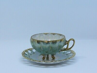 Vintage Royal Sealy China - Sage - Footed Teacup And Saucer