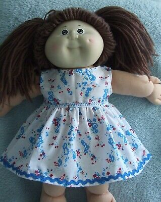 """16"""" CABBAGE PATCH dolls clothes  / SLEEVELESS DRESS / blue-pink flower"""