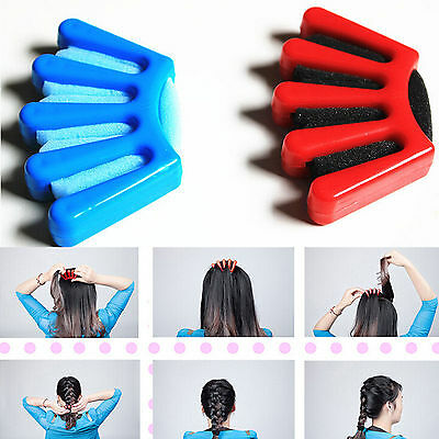 Plait Hair Styler Tool Plaiting Made Easy French Braid Sponge Holder BraiderSC