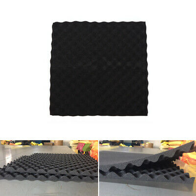 Acoustic Foam Panel Sound Stop Absorption Sponge Studio KTV Soundproof Black