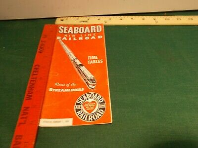 Seaboard Air Line Railroad Time Table 1950 railroads Route of the Streamliners
