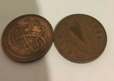 1971 And 1982 Eire Ireland 2-P  PENNY  Circulated Uncertified