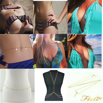 Fashion Women Gold Plated Long Chain Wrap Body Chain Necklace Jewelry