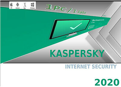 Kaspersky Internet Security  2020 1 PC | 1 Jahr Antivirus Multi Device
