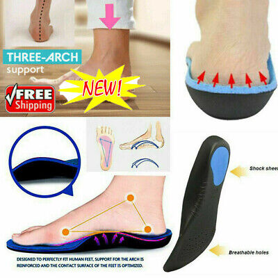 Medical Orthotic Insoles Arch Support Cushion Plantar Fasciitis Orthopedic AU PP