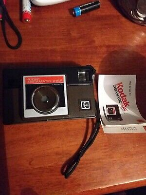 Collectable Vintage Kodak Instamatic X-15F with book