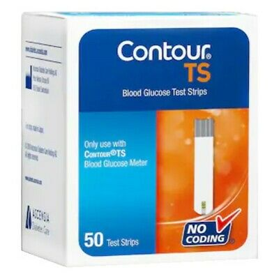 Bayer Contour TS Diabetic Blood Glucose Test Strips Code Free 50 Count #