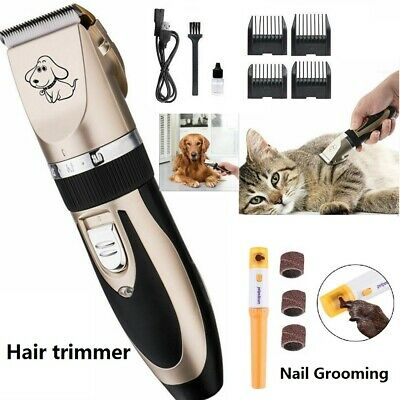 Rechargeable Electric Pet Clipper Dog Hair Trimmer Comb Grooming Clippers/Nail