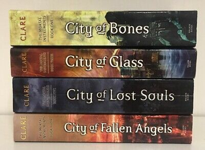 Cassandra Clare, The Mortal Instruments, 4 Book Bundle, Books 1,3,4 & 5, (d)