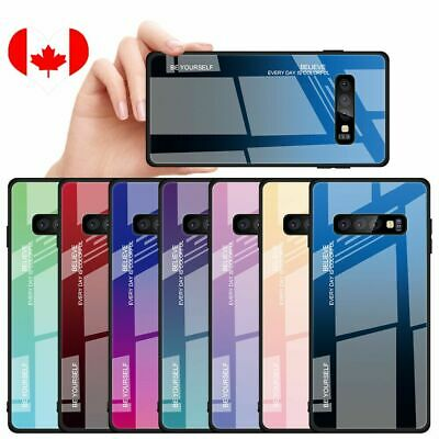 Gradient Tempered Glass Back Case For Samsung Galaxy S10 5G Note10Pro S9 S8 Plus