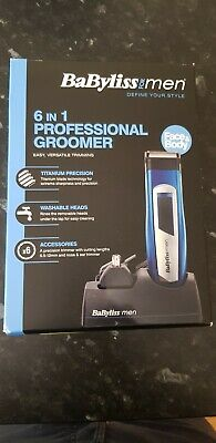 BaByliss 7057U Pro 6-in-1 Grooming Kit Mains & Cordless Trimmer with 2 Head