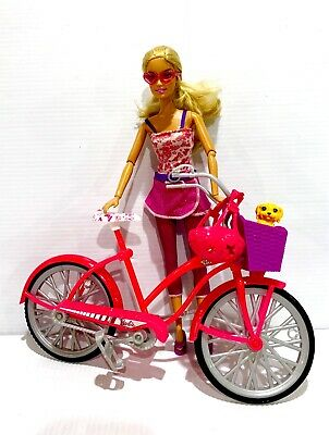 BARBIE Glam Bicycle Playset - Includes Doll & Accessories. READ DESCRIPTION