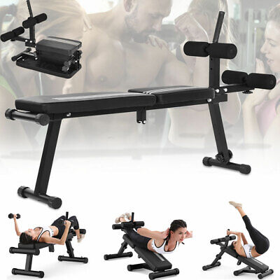Ab Sit Up Bench Abdominal Exercise Gym Situp Machine Board Folding Adjustable
