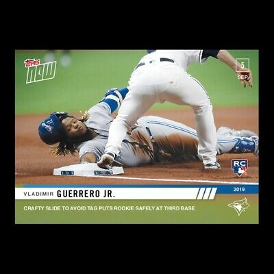 Vladimir Guerrero Jr RC 2019 Topps Now Crafty Slide to Avoid Tag at Third #801