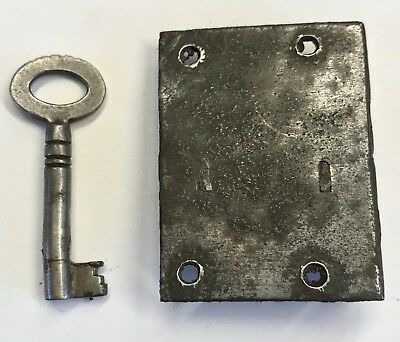 Lovely Steel Antique Long Case Grandfather Clock Lock And Key N10
