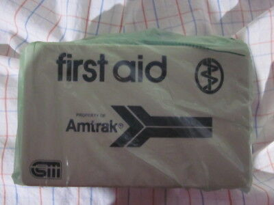 NEW AMTRAK Train SEALED FIRST AID Kit Box Railway Railroad #3616501311