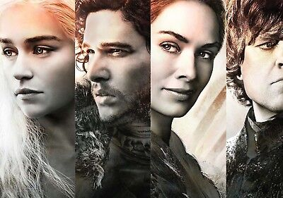 GAME OF THRONES TV Show PHOTO Print POSTER Series Cast Art Stark Lannister 026