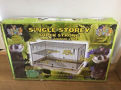 Boxed New Single Storey Sup Strong Animal Cage Lazy Bones Chinchilla Ferret K97