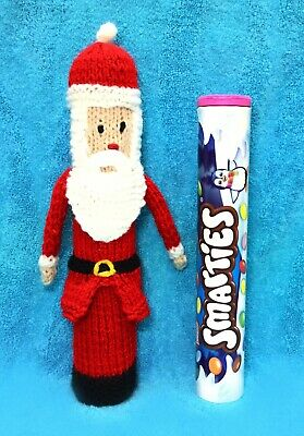 KNITTING PATTERN - Father Christmas Santa Smarties Sweet Holder 22 cms