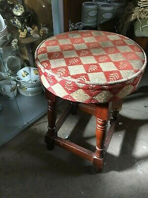 Very Nice Upholstered Small Pub/Bar Stool