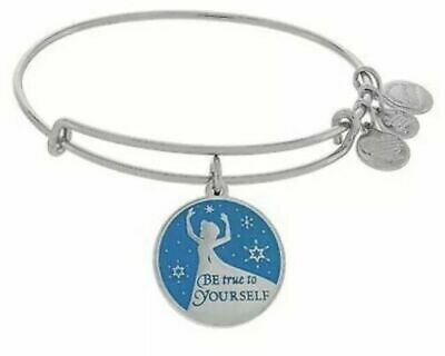 Disney Parks Authentic Alex and Ani Elsa Be True to Yourself Bracelet Silver NEW