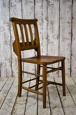 Vintage Wooden Chapel Church Cafe Bar Kitchen Dining Chairs (REF02)