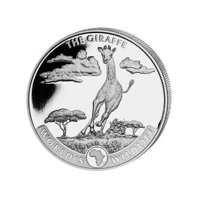 CONGO 20 Francs Argent 1 Once Girafe 2019