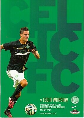 2014 - 2015 Champions League CELTIC V LEGIA WARSAW AUG 6TH PLAYED AT MURRAYFIELD