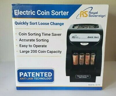 Qs1ac-coin Sort/'s 156 Coins//min Royal Sovereign Electric 1 Row Coin Sorter