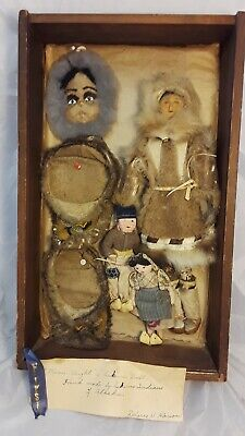 Antique Eskimo Inuit Dolls Indigenous Alaska